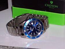 Croton Men's Steel Diver 20 Atm Date Watch CA301157BUBL