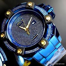 Invicta Reserve Grand Octane Blue Label 63mm 3.06CTW Diamond Automatic Watch New