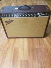 """Fender '65 Deluxe Reverb 22-watt 1x12"""" Tube Combo Amp - Limited Edition Wine Red"""