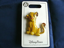 Disney * SIMBA - SCULPTED LION KING * New on Card Character Trading Pin
