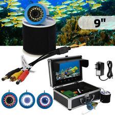 """9"""" 30LEDs 1000TVL Fisch Finder Fischkamera Unterwasser Kamera Angeln IP68 12V DE"""
