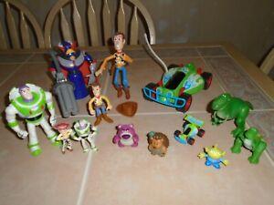 Disney Pixar Toy Story Figures Lot of 13 Zurg RC Woody Buzz Rex Jessie Alien +