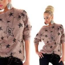 Damen-Pullover mit mittlerer Strickart aus Sterne