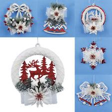 Adornos De Navidad Blanco Puerta Ventana Decoración de Navidad de Santa Claus