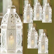 "Lot 6 Enchanting 12"" White Lantern Candleholder Wedding centerpieces"