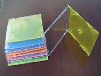 200 SUPER SLIM CD JEWEL CASES PSC16 MIXED COLORS