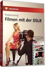 video2brain Praxistraining Filmen mit der DSLR, 6 Stunden VideoTraining DVD, NEU