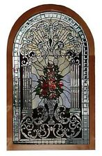 Stained Glass Arched Window, Antique Beveled #5747
