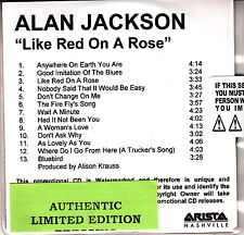 alan jackson like red on a rose cd promo new