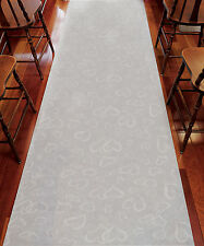 White Stylized Hearts Aisle Runner Non-Woven Fabric Wedding Ceremony Decoration
