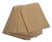 """100 x Brown Paper Bags 12.5"""" x 12.5"""" Sweets Fruit Fancy Goods Strung bags"""