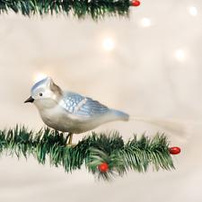 Old World Christmas Blue Jay Bird Glass Clip-On Christmas Ornament 18030
