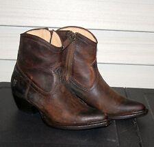 FRYE SACHA SHORT US 6.5 Womans Western Ankle Boot Dark Brown