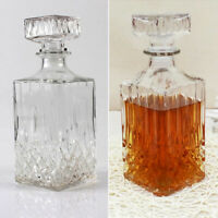Glass Decanter Liquor Whiskey Vintage Crystal Bottle Wine Stopper Bar Scotch Rum