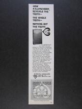 1968 Klipsch Klipschorn Loudspeaker Speaker vintage print Ad