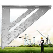 Carpenter Protractor Aluminum Ruler Speed Square Miter Frame Measuring Tools New