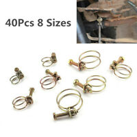 Car 12-35MM DOUBLE WIRE LARGE SMALL BIG BORE POND PUMP HOSE PIPE CLIP BOLT CLAMP