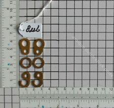 BRASS SET OF CHAIN HOOKS & RINGS FOR ZAANSE OR SCHIPPERTJE DUTCH WUBA WALL CLOCK