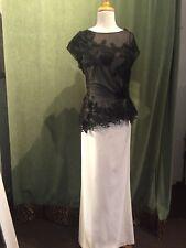 Teri Jons  size16 cap sleeve black & white
