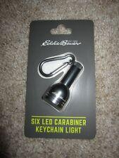 Eddie Bauer carabiner keychain light six LED cinder gray