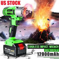 98VF 320NM 12000mAh Cordless Electric Impact Wrench Drill Screwdriver Gun FS