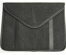 """PROHT INLAND IPAD ENVELOPE CASE BLACK FITS 8-10"""" TABLETS SUEDE INSIDE CANVAS OUT"""