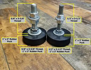 "Rubber Leveling Feet Anti-Vibration Non-Slip Machine Workbench 3"" Pad 1/2"" 5/8"""