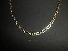 14K 585 ITALY YELLOW GOLD FANCY FLAT MARINER LIKE LINK 23.5 in. NECKLACE 19.3 gm