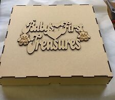 Mdf Box 300x300x50mm With Baby's First Treasures Topper