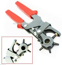"""Heavy Duty 6 Sized 9-1/2"""" Leather Hole Punch Hand Pliers Belt Holes Punches"""