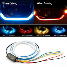 4 Color Flow LED Strip Tailgate Rear Driving Turn Signal Light Bar Trunk Lamp