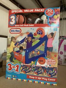 Little Tikes Inflatable Hoop It Up! Play Center Ball Pit with Basketball Hoop