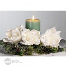 Dekoblumen navidad foam Flower blanco 3er set