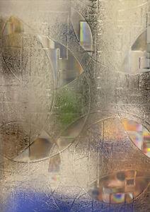 "Rabbitgoo Geometric Window Film With Peel-Off Backing- 51""x 9.5"""