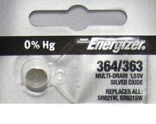 1 X PC Fresh ENERGIZER Silver Oxide WATCH Battery 1.55v CR 364 363 SR621 SR621SW