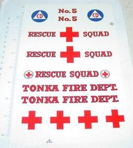 Tonka Metro Van Style Rescue Squad Stickers        TK-126