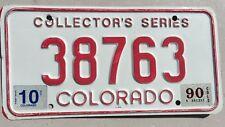 "1990 COLORADO COLLECTOR'S SERIES CLASSIC ANTIQUE CAR  LICENSE PLATE "" 38763 "" CO"