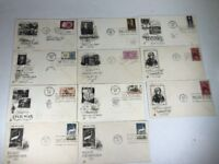 Lot of 11 United States Postage Stamps First Day of Issue Covers 1956 1957 1962