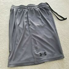 UNDER ARMOUR GREY POLYESTER ATHLETIC SHORTS MENS SIZE MD LOOSE