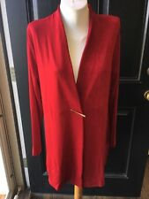 New Sold-out Chico's Travelers Enamel Red Side Slit Jacket Size 3 = XL 16 18 NWT