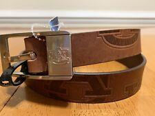 Eagles Wings Alabama Brandish Brown Leather Belt