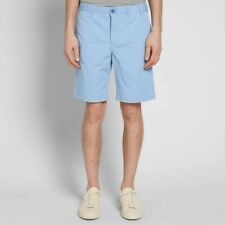 NORSE PROJECTS AROS LIGHT TWILL SHORT LUMINOUS BLUE