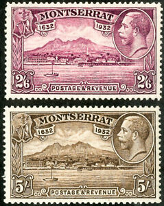 Montserrat Stamps # 83-4 MNH VF High Values Scott Value $320.00