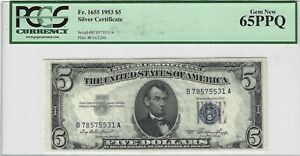 Fr.1655 1953 $5 Silver Certificate, PCGS 65PPQ, Nice!