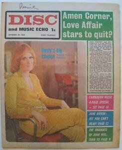 Disc Sept 20th '69 - Dusty Springfield Cover Beatles Rolling Stones Jane Birkin