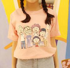 Japan Girl Harajuku Cute Lolita Cartoon Chibi Maruko-chan Printing Tee T-shirt