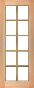 10 Lite White Translucent Glass SOLID Mahogany Timber Door MANY SIZES + CUSTOM