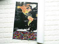 World Map Scratch Off Map Deluxe Travel Edition  Personalized poster LOG-Gift