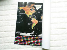 World Map Scratch Off Map Deluxe Travel Edition​  Personalized poster LOG-Gift