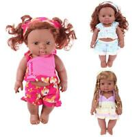 #QZO 30cm Baby Simulation Doll African Baby Girl Doll Toy Kids Birthday Gift